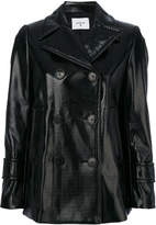 Dondup double breasted leatherette jacket