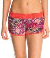 "Hurley Women's Supersuede Printed Ember Glow 2.5"" Beachrider Boardshort 8145647"