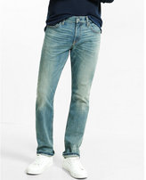 Express classic fit tapered leg performance stretch jeans