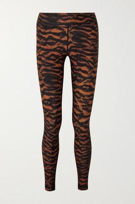 The Upside Tiger-print Stretch Leggings - Orange