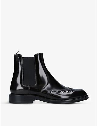 Saint Laurent Ceril brogue-detail leather Chelsea boots