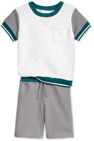 First Impressions Baby Boys' 2-Pc. Colorblocked T-Shirt & Shorts Set, Only at Macy's