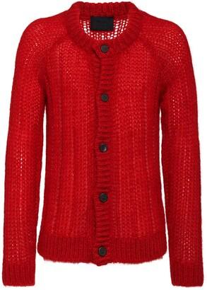 Prada ribbed knitted cardigan