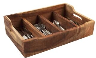 T&G Nordic Extra Large Wooden Cutlery Tray