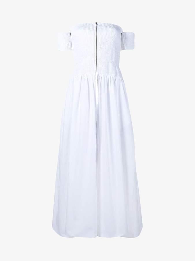 Fendi off-shoulder smock dress