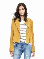 Banana Republic Yellow Suede Moto Jacket