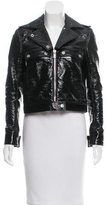 Courreges Faux Leather Biker Jacket