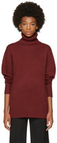 Chloé Red Cashmere Classic Long Turtleneck