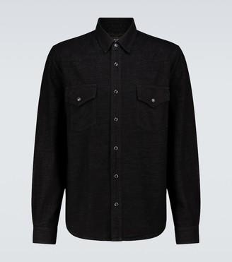 Amiri Lurex denim Western shirt