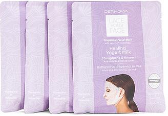 Dermovia Healing Yogurt Lace Your Face Mask 4 Pack