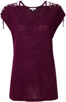 IRO shoulder tie T-shirt - women - Linen/Flax - S
