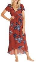 Billabong Wrap Me Up Floral Print Maxi Dress