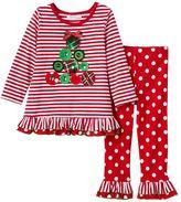 Bonnie Jean Toddler Girl Gem Tree Top & Pants Set