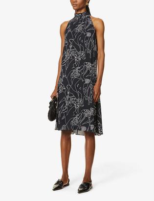 Victoria Victoria Beckham Flared stretch-crepe midi dress