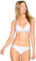 Ella Moss Juliet Solids Triangle Bikini Top in White. - size L (also in M,S,XS)