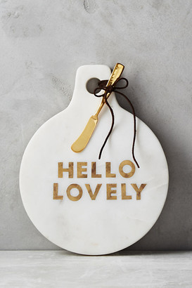 Anthropologie Gilded Greetings Cheese Board By in White Size CTTNGBOARD