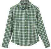 Petit Bateau Women's long-sleeved, checked shirt in brushed cotton