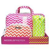 Models Prefer Bright Chevron Duffle Set 3 pack