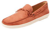 Tod's Leather Tie Boat Shoe