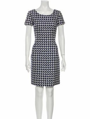 Oscar de la Renta Printed Knee-Length Dress w/ Tags White