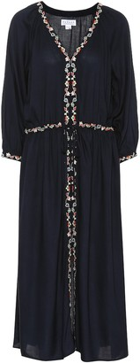 Velvet Lydia embroidered midi dress