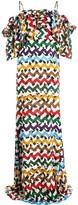 Lee Edeline zigzag cold-shoulder maxi dress