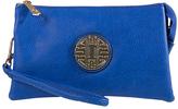 Royal Blue Emblem Crossbody Clutch & Wristlet