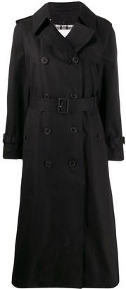 MACKINTOSH FORREST Black Cotton Long Trench Coat | LM-1013FD