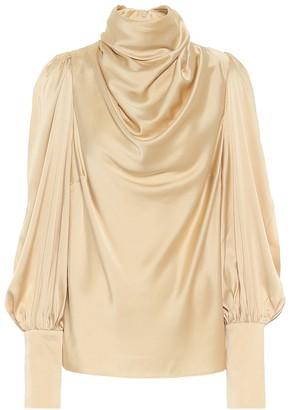 Zimmermann Stretch-silk satin blouse