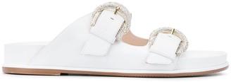 Stuart Weitzman Juanita buckle sandals