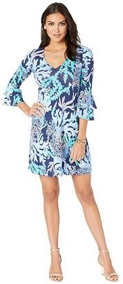 Lilly Pulitzer Raina Dress (Deep Indigo Swish and Sway) Women's Dress