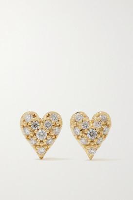 Mizuki 14-karat Gold Diamond Earrings - one size