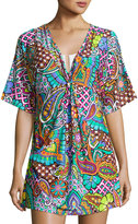 Trina Turk Madagascar Graphic-Print Cover-up, Multipattern