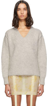Maison Margiela Beige Gauge 3 V-Neck Sweater