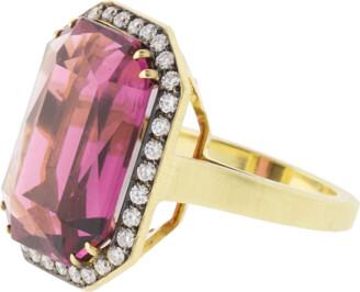 Sylva & Cie Rhodolite And Diamond Ring