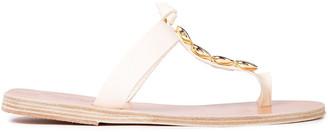 Ancient Greek Sandals Iris Embellished Metallic Leather Sandals