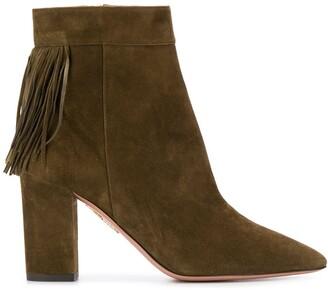 Aquazzura fringe heeled boots