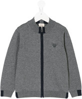 Armani Junior zip-front cardigan - kids - Cotton/Wool - 4 yrs