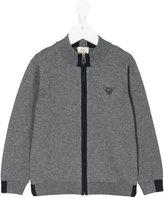 Armani Junior zip-front cardigan