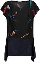Vionnet Printed silk T-shirt