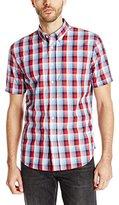 Jack Spade Men's Rayford Plaid Short Sleeve Button Down Shirt