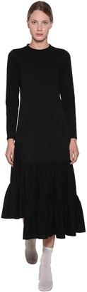 MM6 MAISON MARGIELA Long Ruffled Cotton Dress