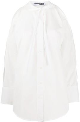 Courreges Cut-Out Sleeve Shirt