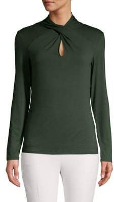 Vince Camuto Long-Sleeve Twisted Top
