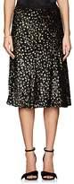 Barneys New York Women's Metallic Silk-Blend Midi-Skirt
