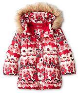 Joe Fresh Joe FreshTM Hearts and Flowers Puffer Jacket - Girls 1t-5t