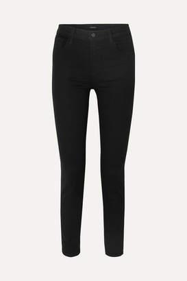 J Brand Ruby 30 High-rise Slim-leg Jeans - Black