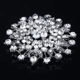 MonkeyJack Luxury Glitter Rhinestone Bridal Wedding Bouquet Silver Flower Brooch Pin Fashion Elegant Corsage