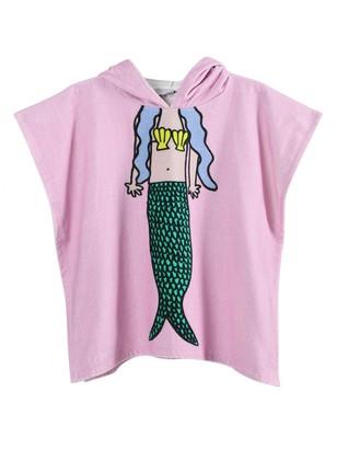 Stella McCartney Kids Pink Mermaid Hooded Towel Poncho