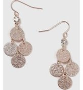 Dorothy Perkins Womens Sandblast Chandelier Earrings- Rose Gold
